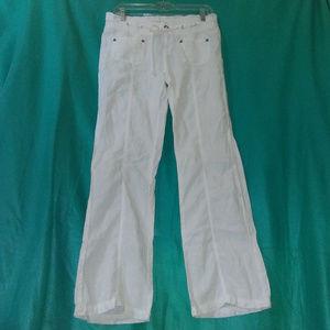 GUESS Jeans 28 Ivory Linen Wide Leg Pants Womens